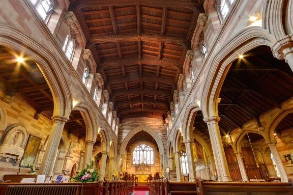 Looking towards the altar at Edgbaston Old Church.