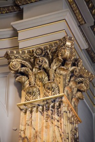 This ornate column holding up the roof of St. Philip's Cathedral, Birmingham, harks back to the classical (pre-Christian) era.