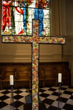 A piece of contemporary art, in the form of a cross, located in St. Philips' Cathedral, Birmingham.
