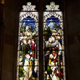 Stained glass window at Edgbaston Old Church.