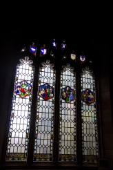 Small stained glass windows showing the acts of Jesus, Edgbaston Old Church.