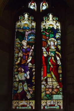 """Light of the World"". Stained glass window at Edgbaston Old Church."