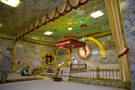 The altar from which worship is led at the Gudwara.