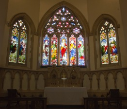 The altar area at St. John's Church, Ladywood. This area is very traditional and retains all of its mid-Victorian, Gothic style, features which date back to when the church was constructed.