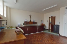 The priests room in the Catherine of Sienna Roman Catholic church, central Birmingham. This is where the priest leading worship prepares before he takes mass.