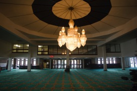 Entrance to the prayer hall at Birmingham Central Mosque.