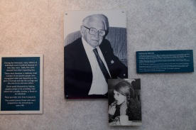 Photograph of the display at the National Holocaust Centre in Nottinghamshire.