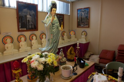 Statues comprising the shrine in the Ladywood Pagoda