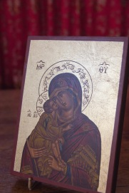 This small Greek Orthodox style icon sits near the altar at St. John's Church, Ladywood. In addition to inspiring devotion and reflection upon Jesus his mother Mary it also signifies a relationship and interplay with another Christian denomination, largely located in a different part of the world.