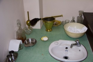 This is the basin at which the priest in charge of Catherine of Sienna Roman Catholic church, central Birmingham; prepares before mass. The brush like object sat upon a golden bowl is used for holy water during services.