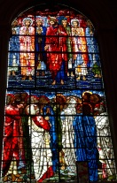 Full length picture of Edward Burne-Jones' window in St. Philips' Cathedral, Birmingham; showing the disciples watching Jesus ascend to heaven.