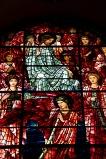 Close up of Edward Burne-Jones' window in St. Philips' Cathedral, Birmingham; showing Jesus arrayed in heaven.