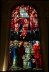 Close up of Edward Burne-Jones' window in St. Philips' Cathedral, Birmingham; showing Jesus arrayed in heaven.