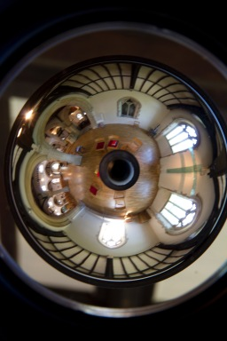 Panorama of the chancel at St. John's Church, Ladywood, created using a fisheyed lens.