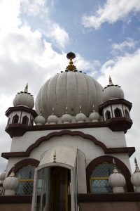 The main dome of the Soho Road Gudwara.