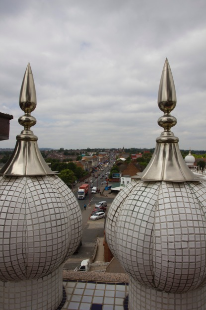 Looking down the Soho Road from the Gudwara's roof.
