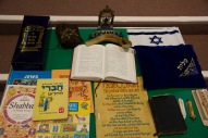 A range of Jewish religious items and texts.