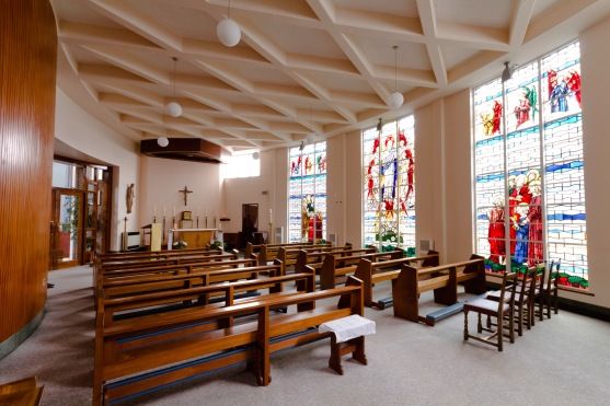 A small side chapel for more intimate worship at the Catherine of Sienna Roman Catholic church, central Birmingham.