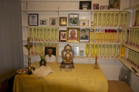 A small shrine in the Ladywood Pagoda's library.