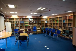 The library and study space in Green Lane Mosque, Birmingham
