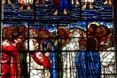 Close up of Edward Burne-Jones' window in St. Philips' Cathedral, Birmingham; showing the disciples watching Jesus ascend to heaven.