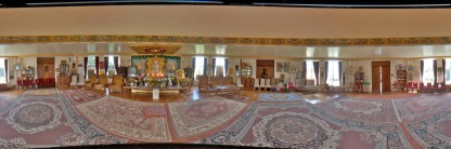 Panorama of the main worship space in the Ladywood Pagoda.